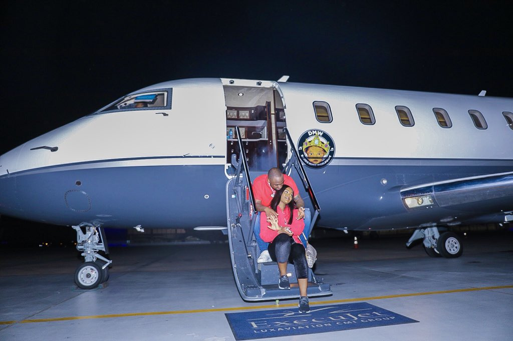 Davido shows off his private jet with chioma (picture)