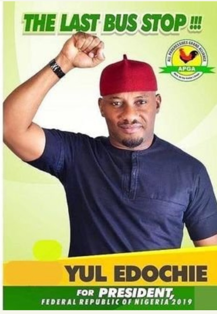 Yull Edochie Vows To Defeat Buhari in the forthcoming Presidential election (Pictures)