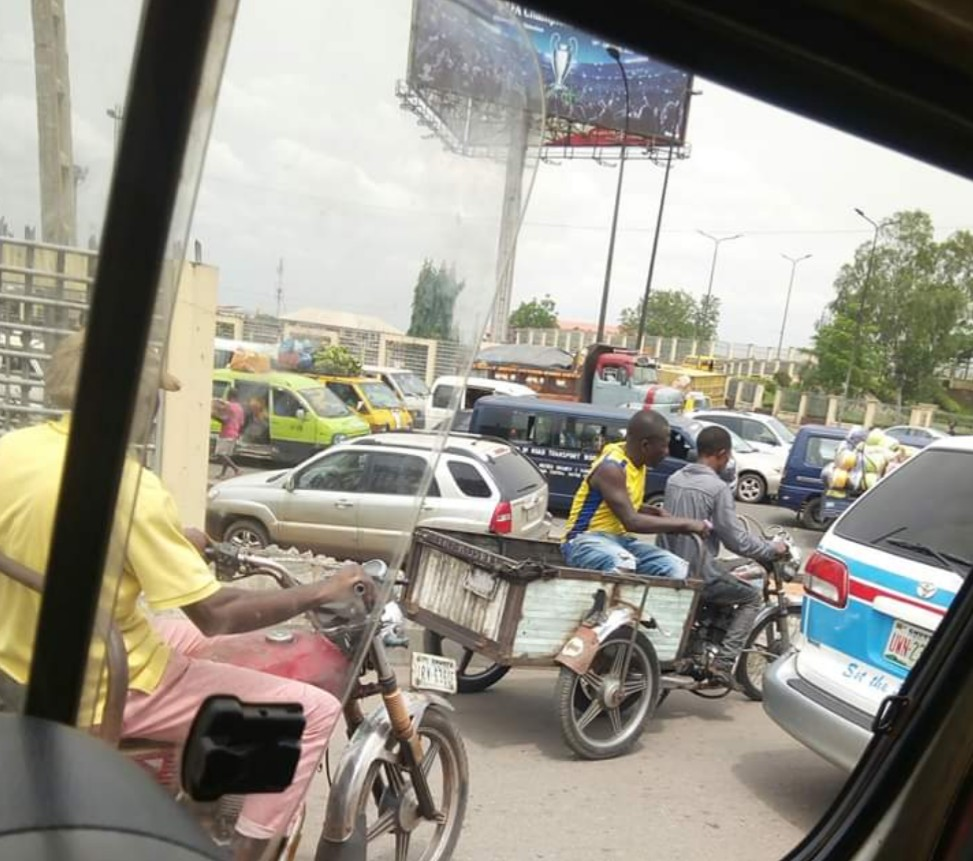 The Ingenuity of Igbo Men In Onitsha as they Convert banned Okada to tricycle