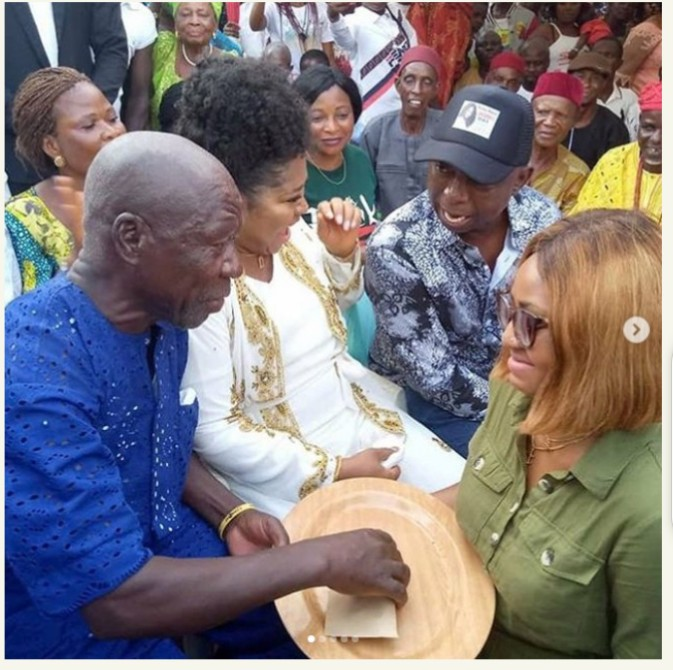 Full Video and Pictures from Regina Daniels Traditional Marriage Initiation