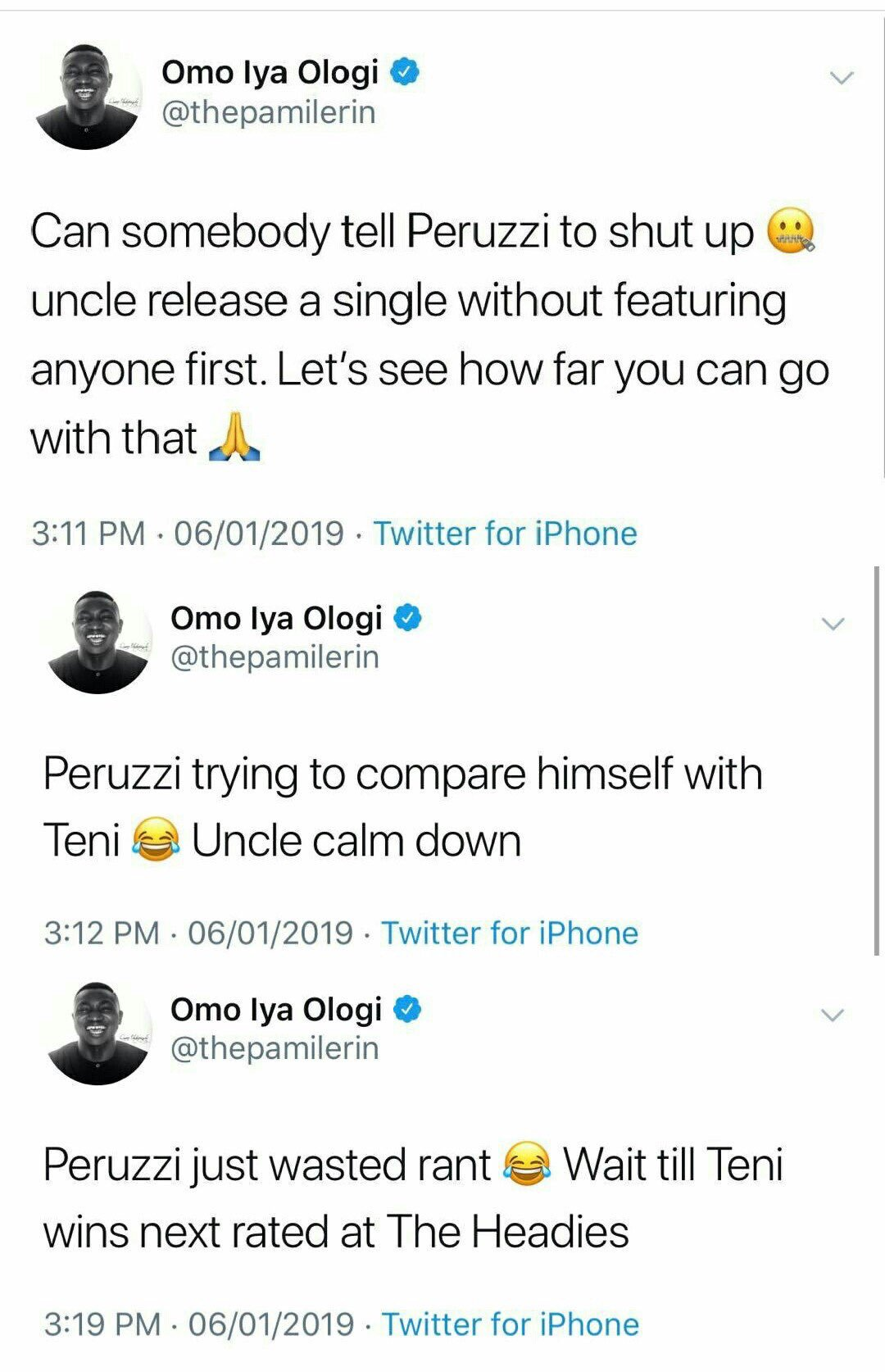 Peruzzi and Pamilerin