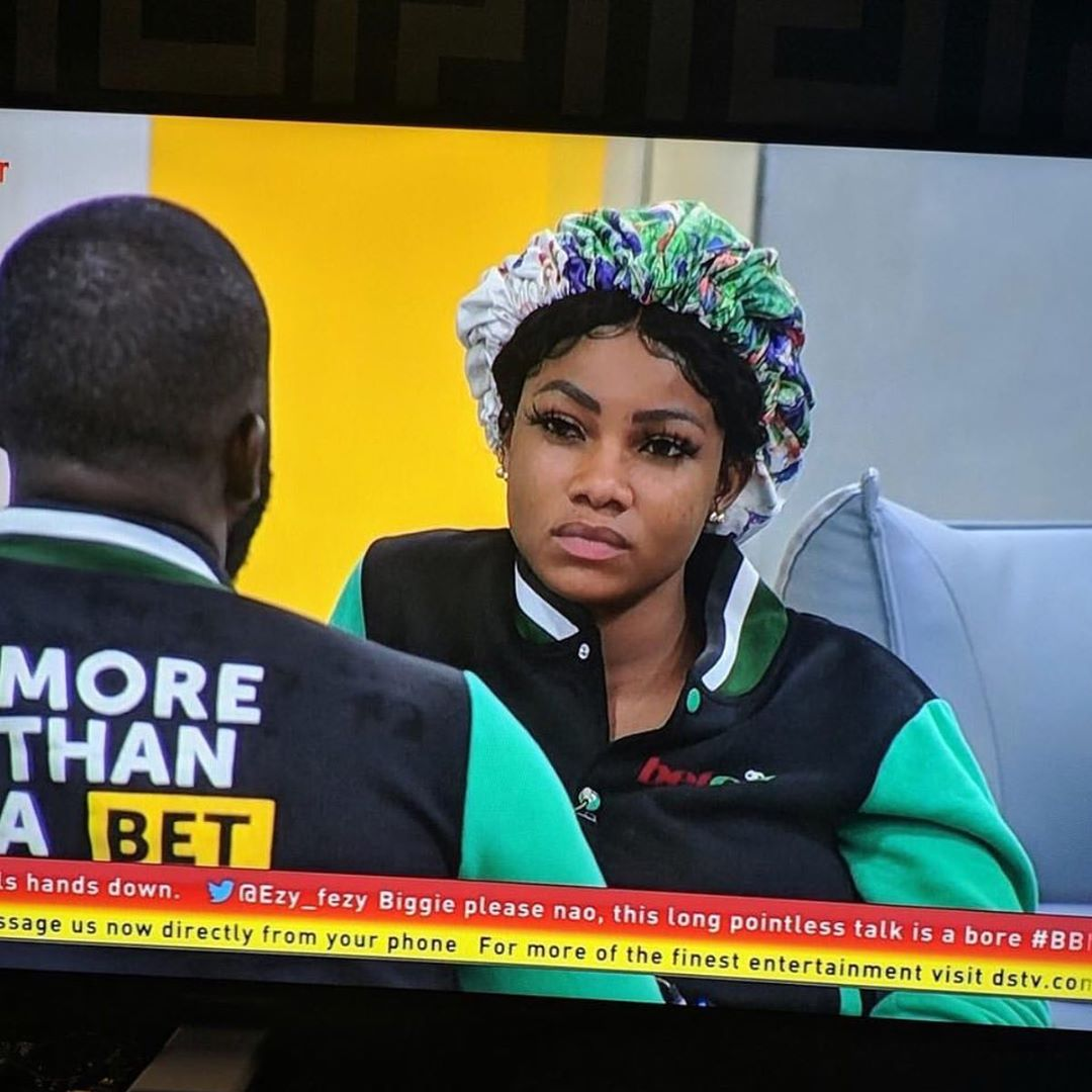 BBNaija2019 : Bathroom Fight, Tacha fights Frodd (Video)