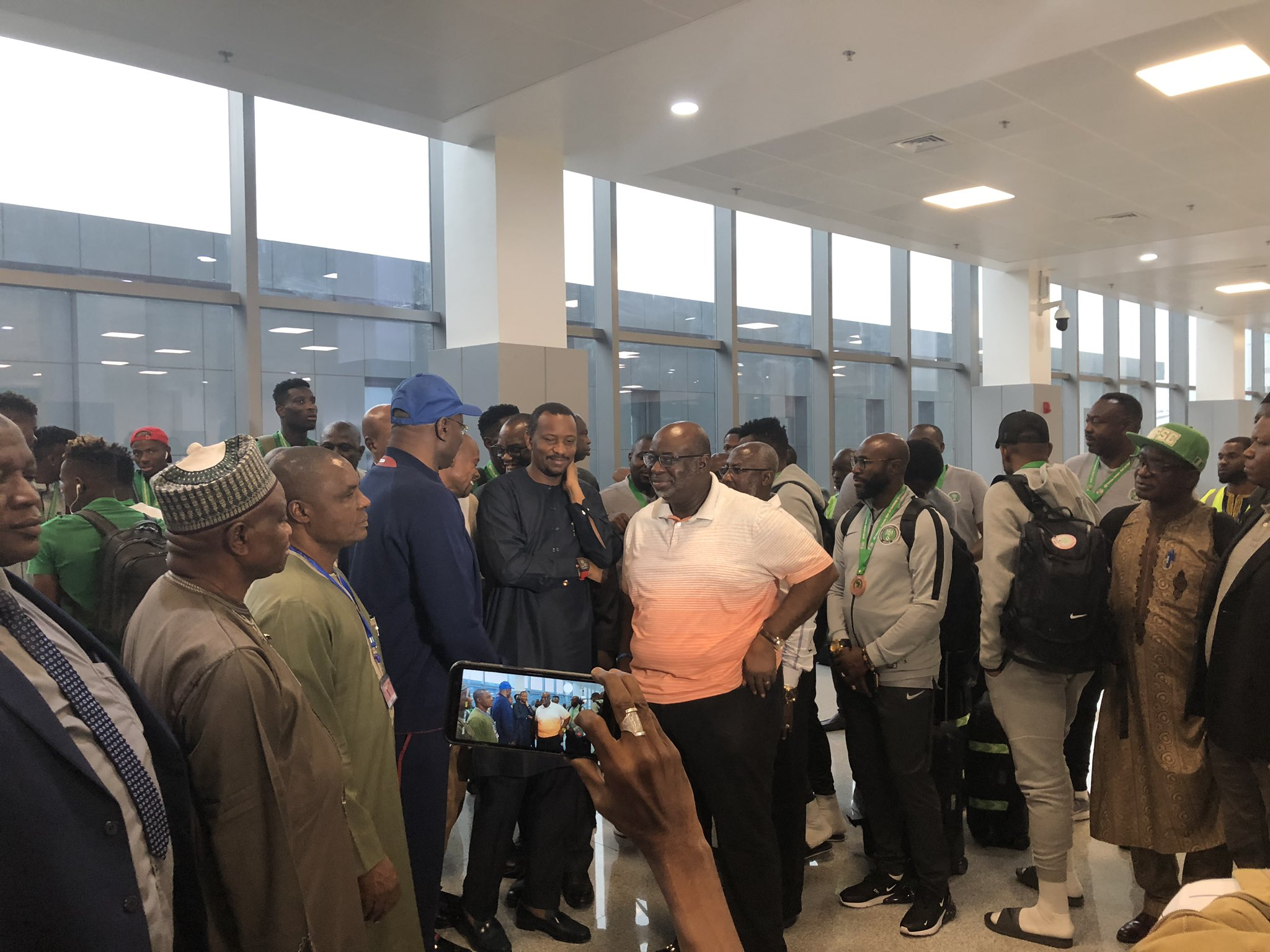 Super Eagles Arrive Nigeria from Cairo ( Video)