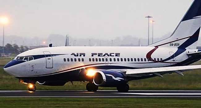 Air Peace Flight Lost A Tire While Landing At Lagos Airport