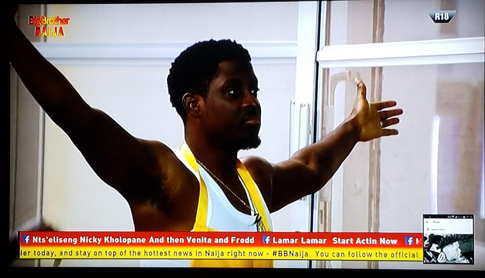 #BBnaija : Seyi Retains The HOH asTacha Rejects Him