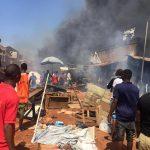 Ochanja Market under fire (video)