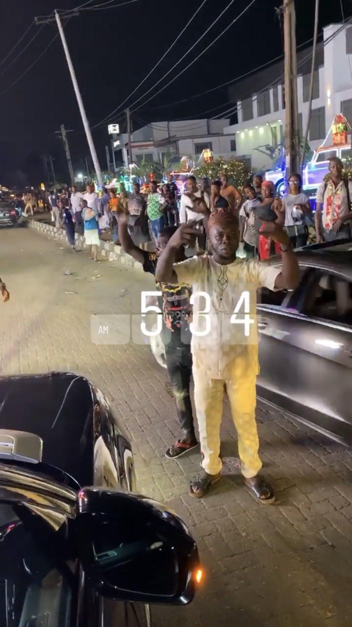 Cardi B shuts down lagos club (video)