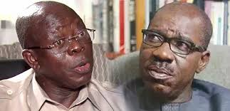 War in Edo state as Governor Obasaki Seeks for Oshiomhole's arrest (Video)