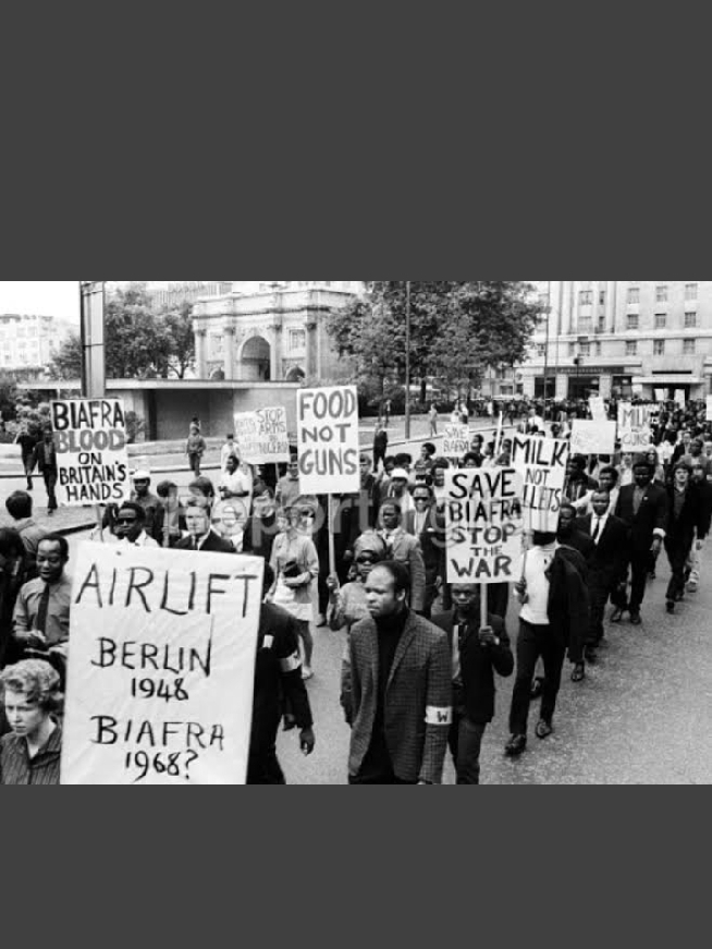 Biafran protest during the Civil war