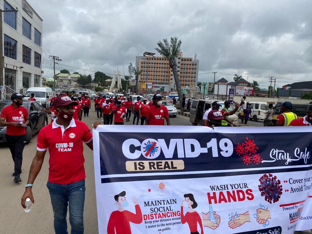 Kanu Nwankwo leads awareness on COVID-19 realities (pictures)