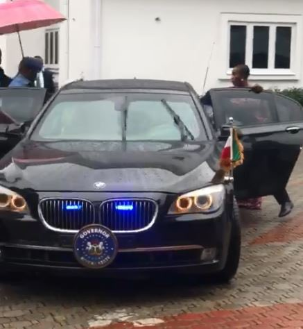 BREAKING: Rivers Governor, Nyesom Wike, Storms Joy Nunieh's House To 'Rescue' Her (video)