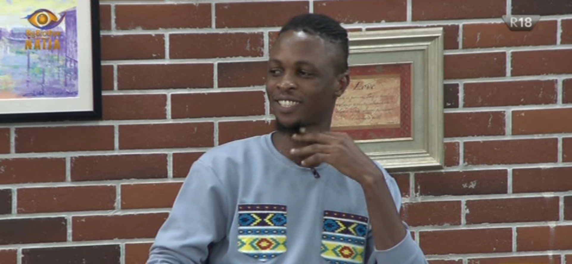 #BBNaija2020 : Laycon grabs viewers and some housemate's attention with his lyrics (video)