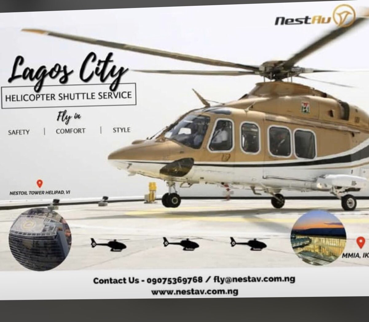 Lagosians can use Helicopter shuttle service