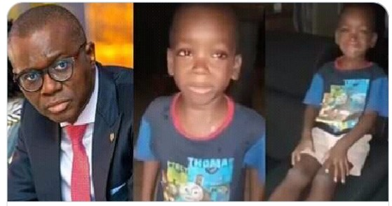 "Governor,Jide Sanwo Olu requests to meet Little boy in a Viral Video ""mummy calm down"" (video)"