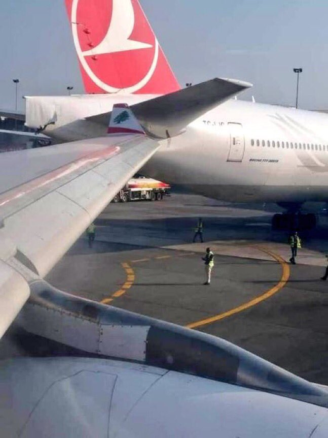 Two Airplanes Collide At Lagos Airport(pictures)