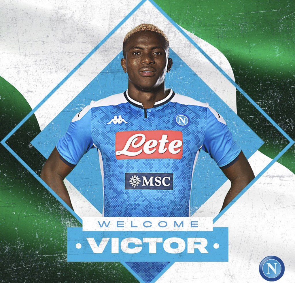 Napoli Sign Nigeria striker Victor Osimhen from Lille