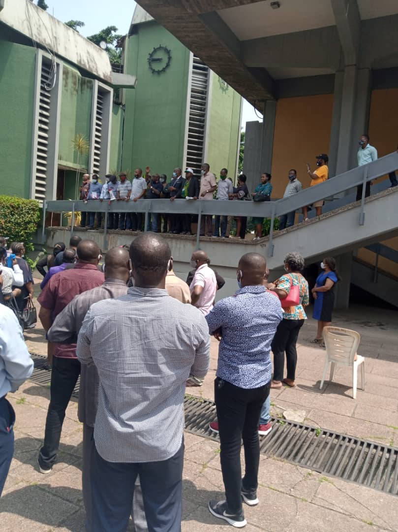 Ogundipe Leads ASUU Protest As Senate Rejects His Removal (video)