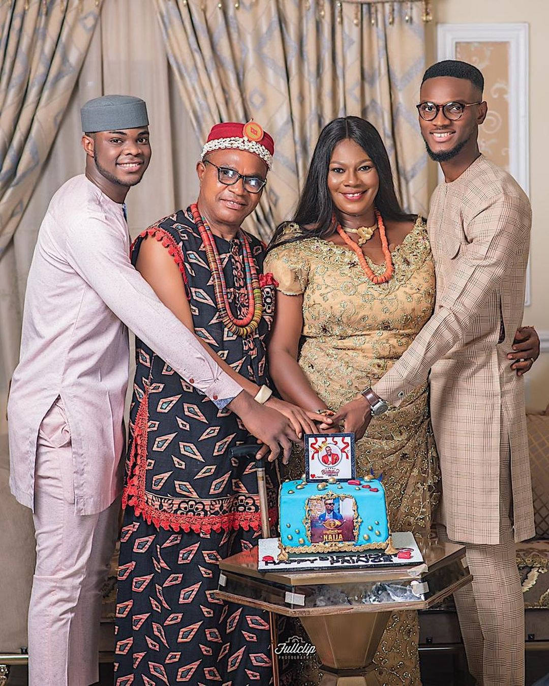 #BBNaija2020 : Prince's family members celebrate his birthday in style (pictures)