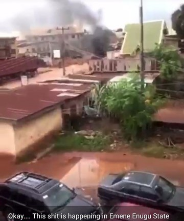 Police And IPOB Clash In Enugu, Two Dead (video, graphic Image)