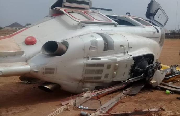 Breaking : Helicopter Crashes Into Building In Opebi, Lagos(video)