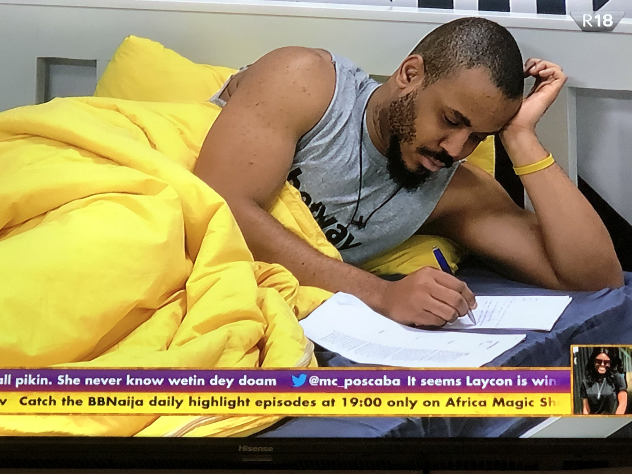 #BBNaija2020 : Ozo writes love letter to Nengi (video)