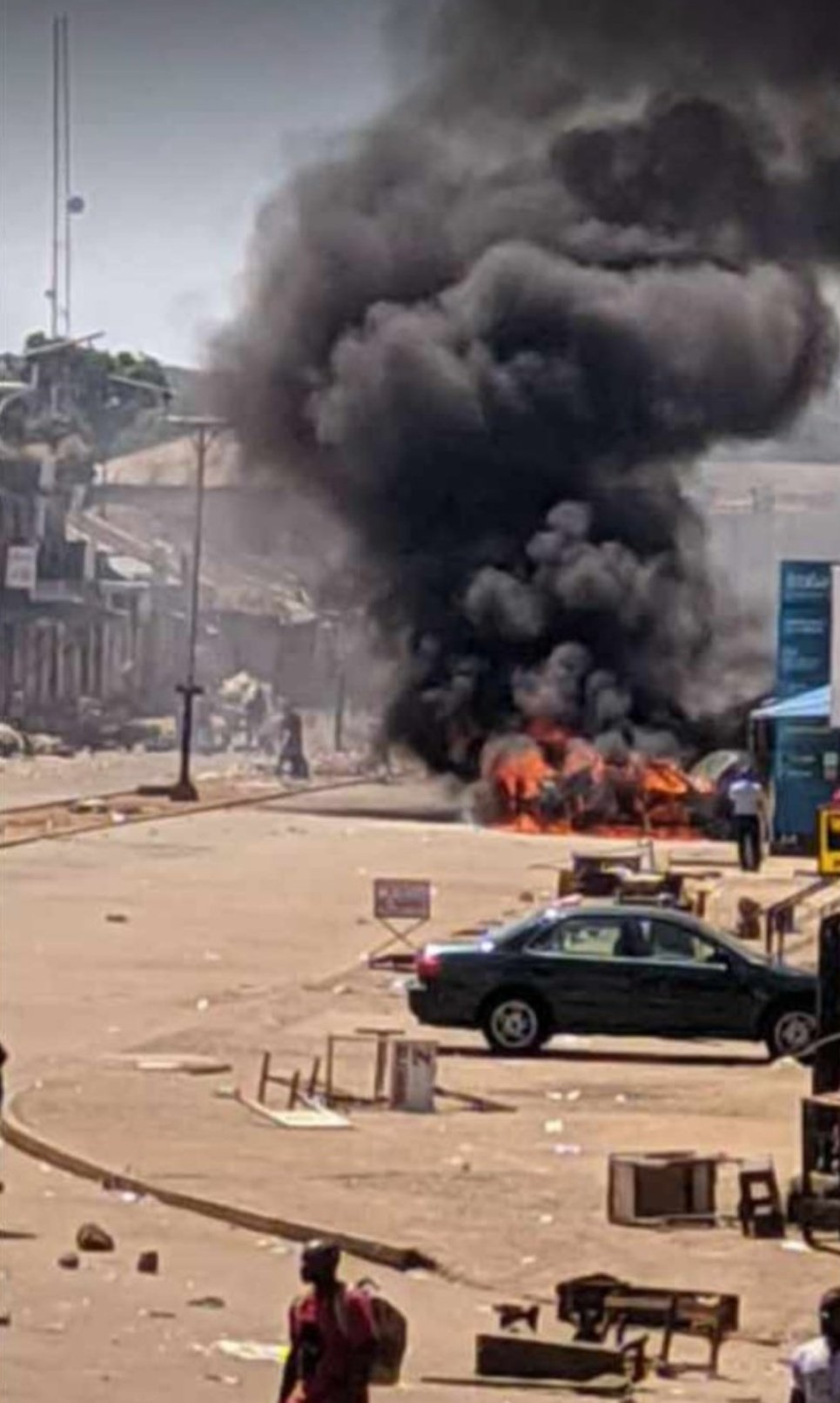 #ENDSARS protest in Jos turns chaotic (video)