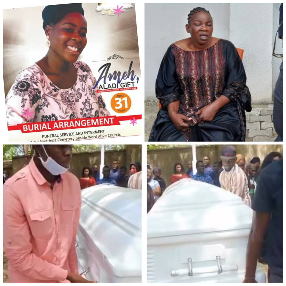 Nollywood actress Ada Ameh Buries daughter amidst tears (pictures)