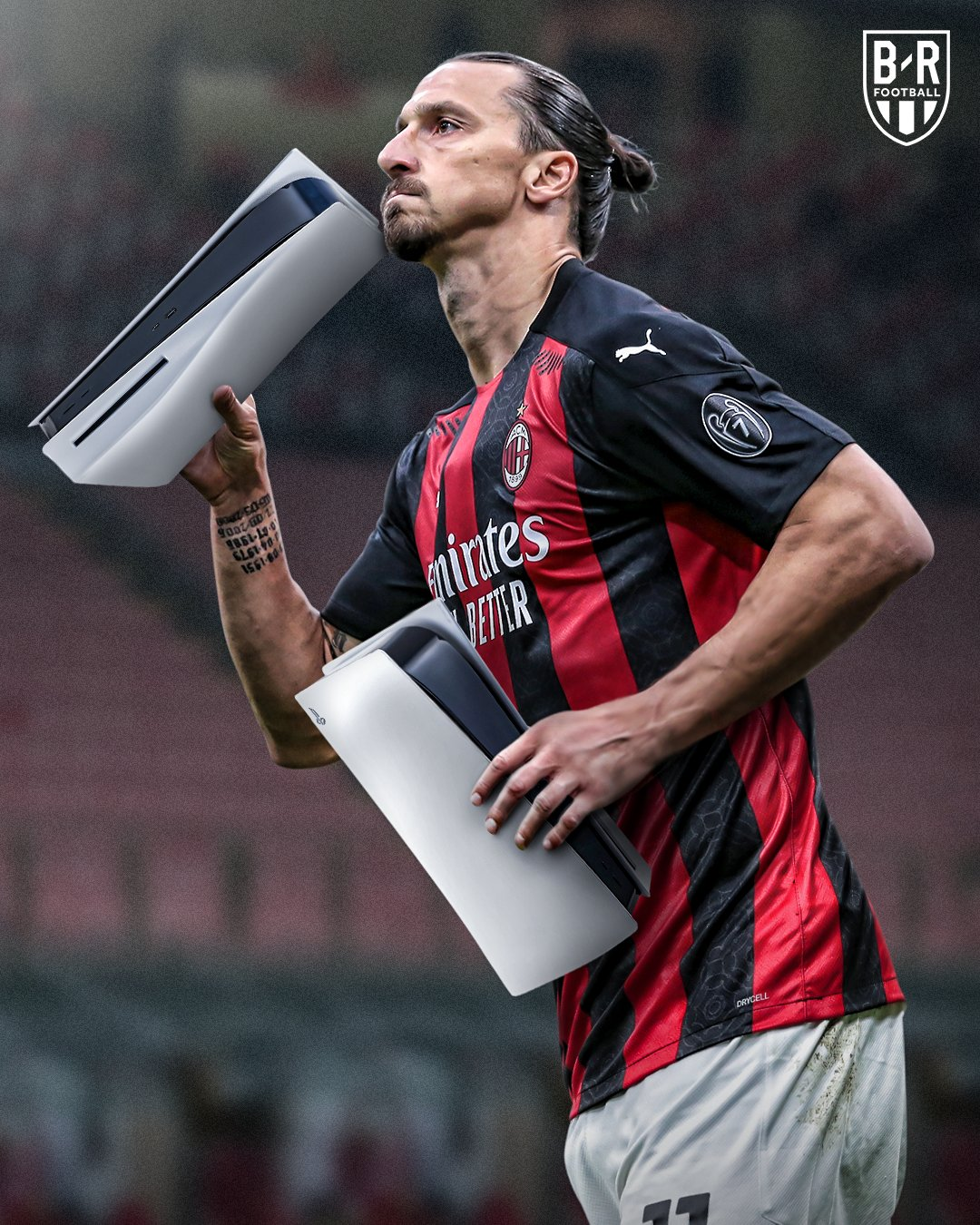 Zlatan Ibrahimovic celebrates PS5 launch day by giving AC Milan team-mates in-demand new console