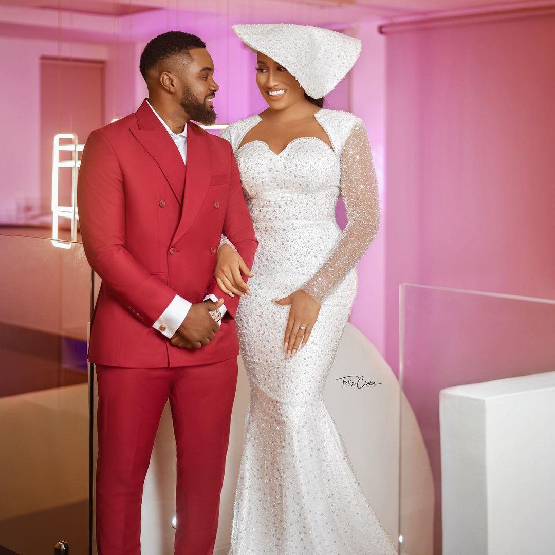 William Uchemba's white wedding (video, images)