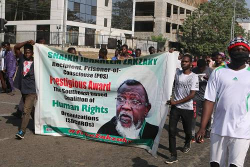 Shiites Protest In Abuja To Mark 5 Years Of #ZariaMassacre