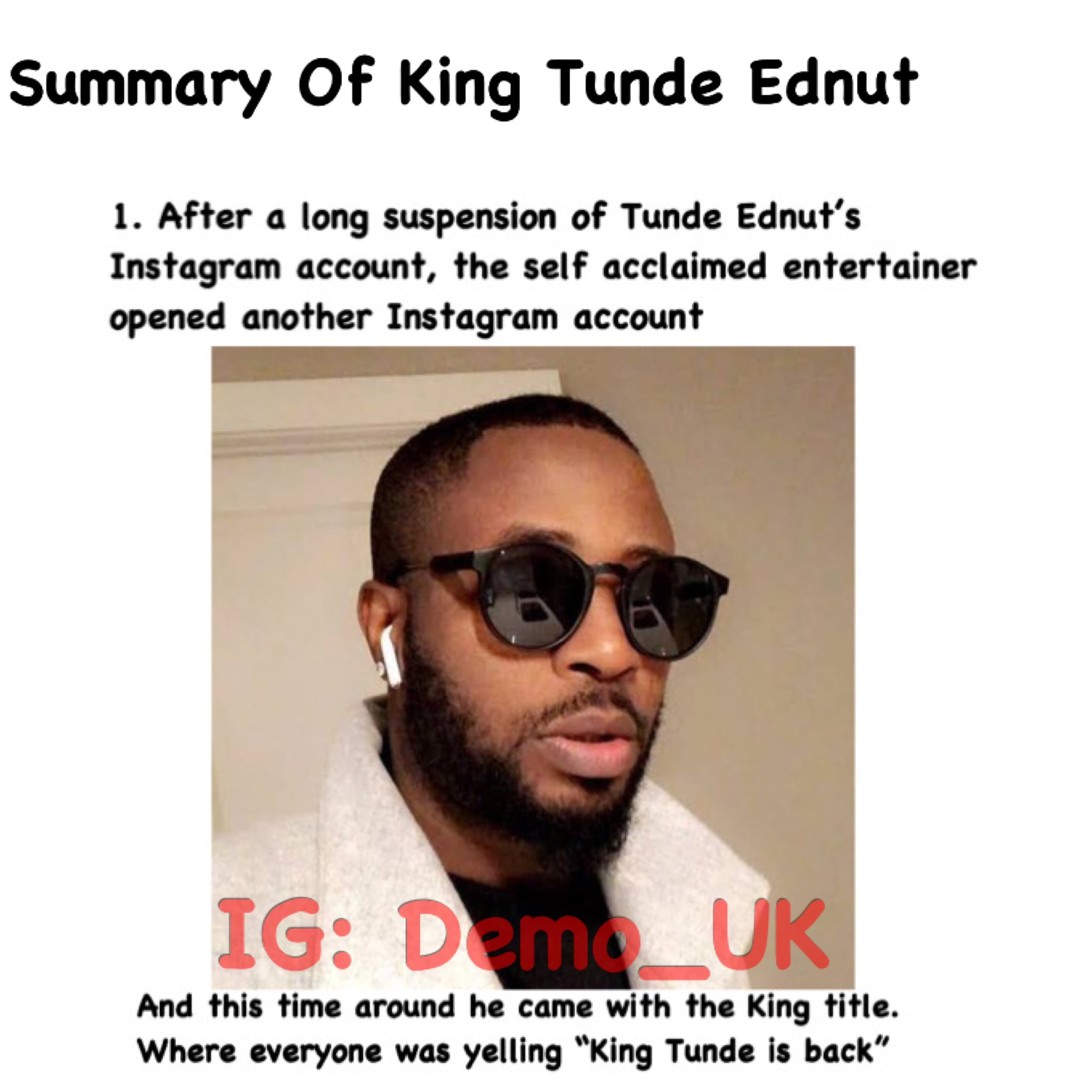 Nigerians Mock Tunde Ednut As Instagram Bans His Account Again