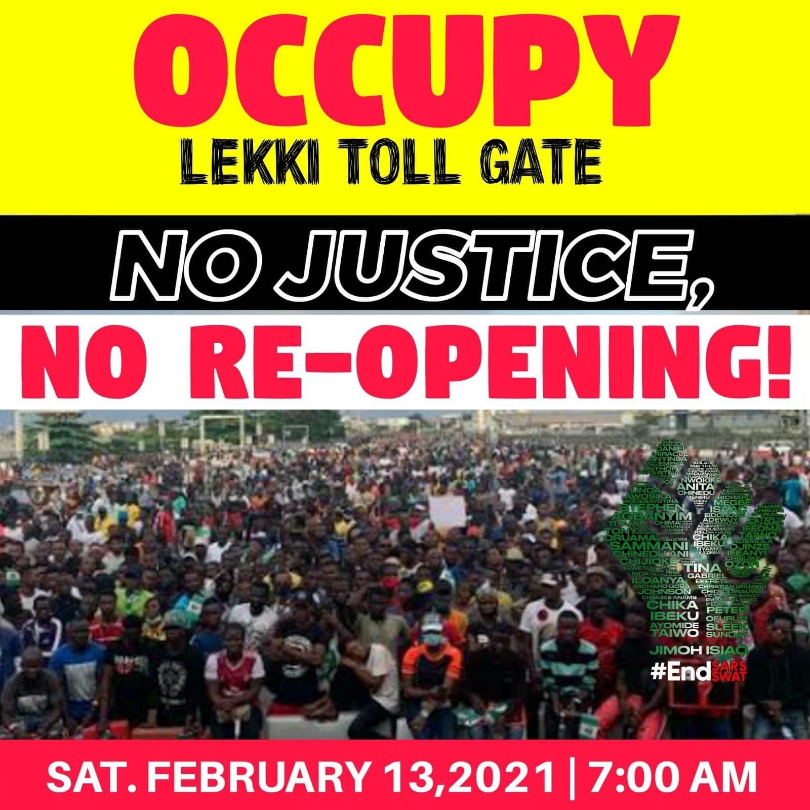 Youths set to shut Lekki toll gate over Injustice