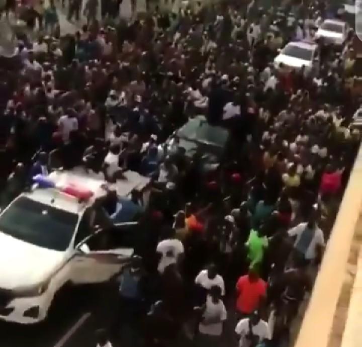 Sunday Igbogho received by a mammoth crowd in Ado-Ekiti (  video)
