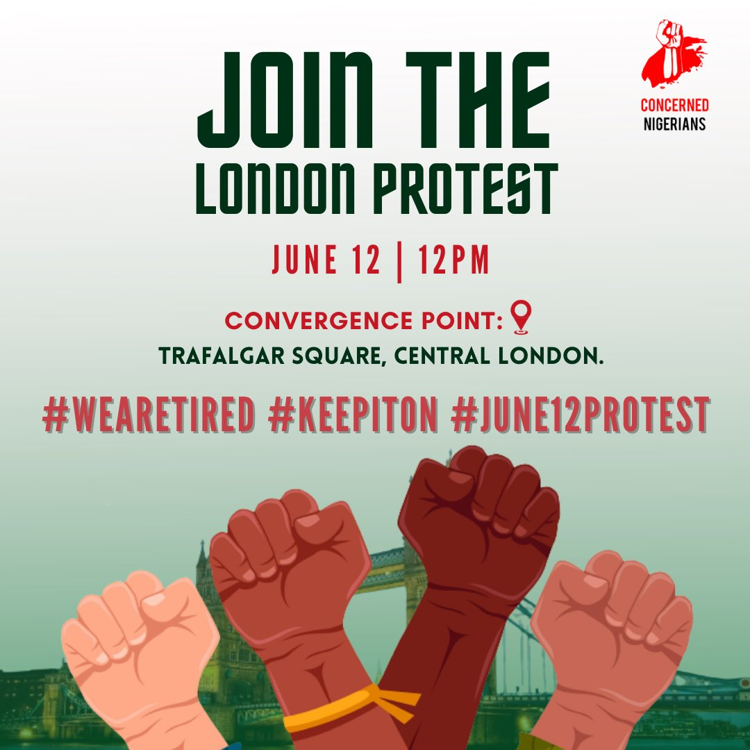 #June12protest : Nigerians in London to join protest
