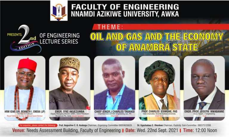 Faculty Of Engineering Unizik Set To Hold Her Second Edition Of Engineering Lecture Series