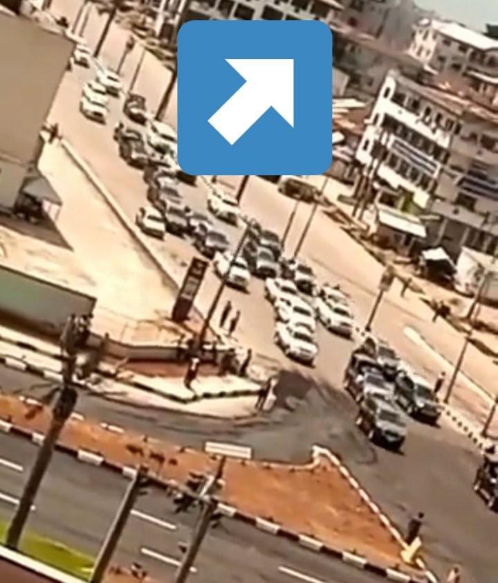 Over 50 cars on President Buhari's fleet to an empty Owerri streets( video)