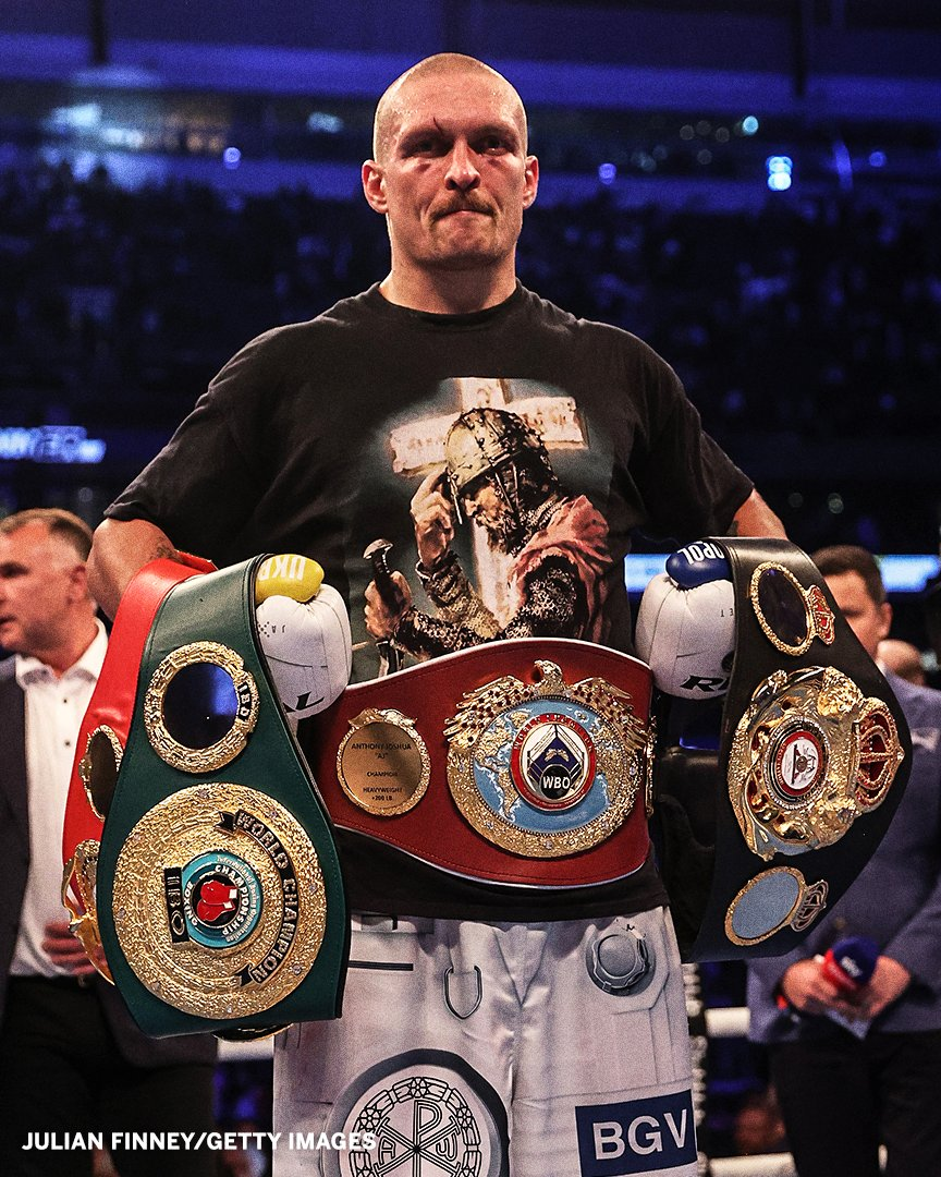 Oleksandr Usyk upset Anthony Joshua to become the unified heavyweight champion(video)